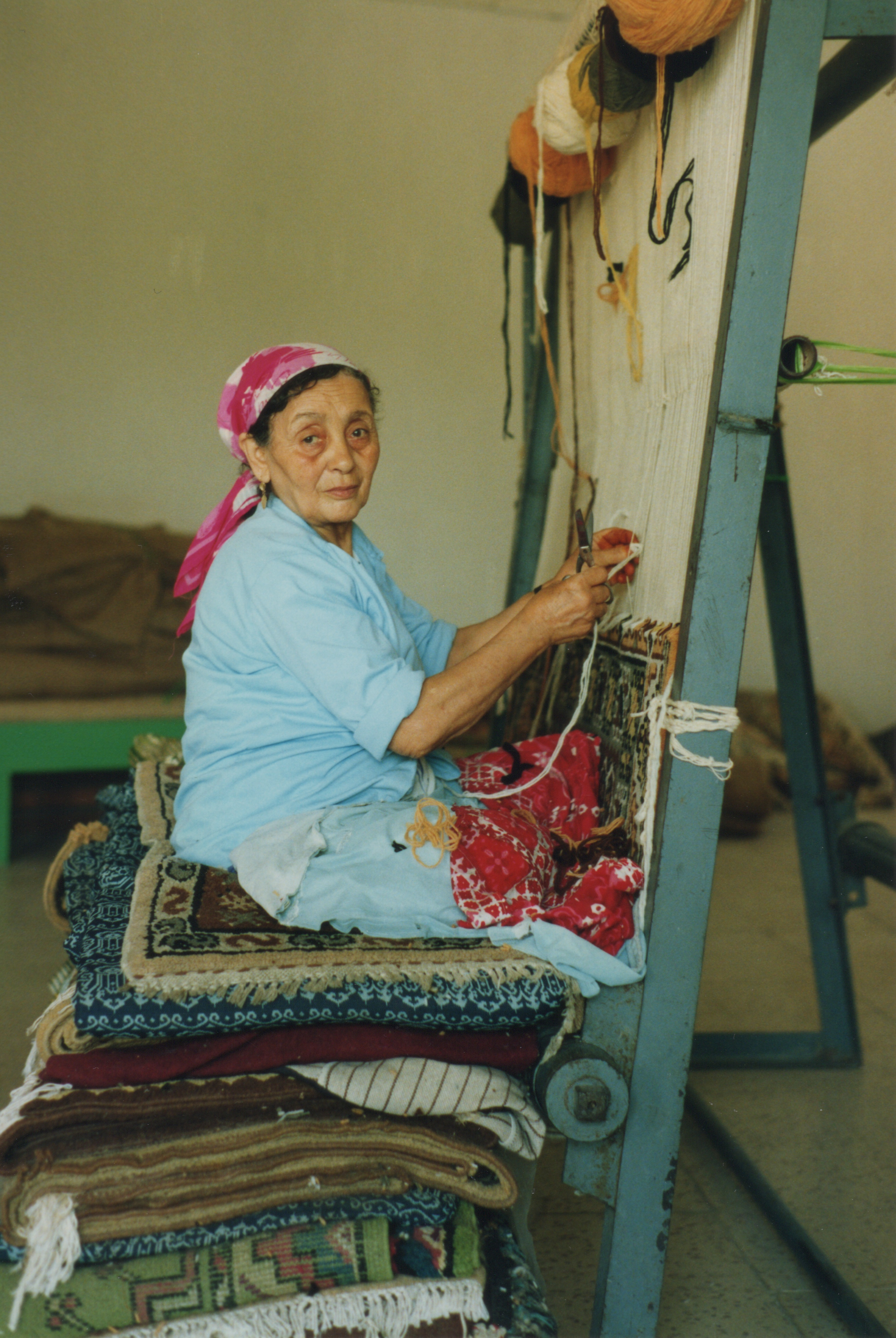 Holy Moments – Day 3 – Woman Weaving